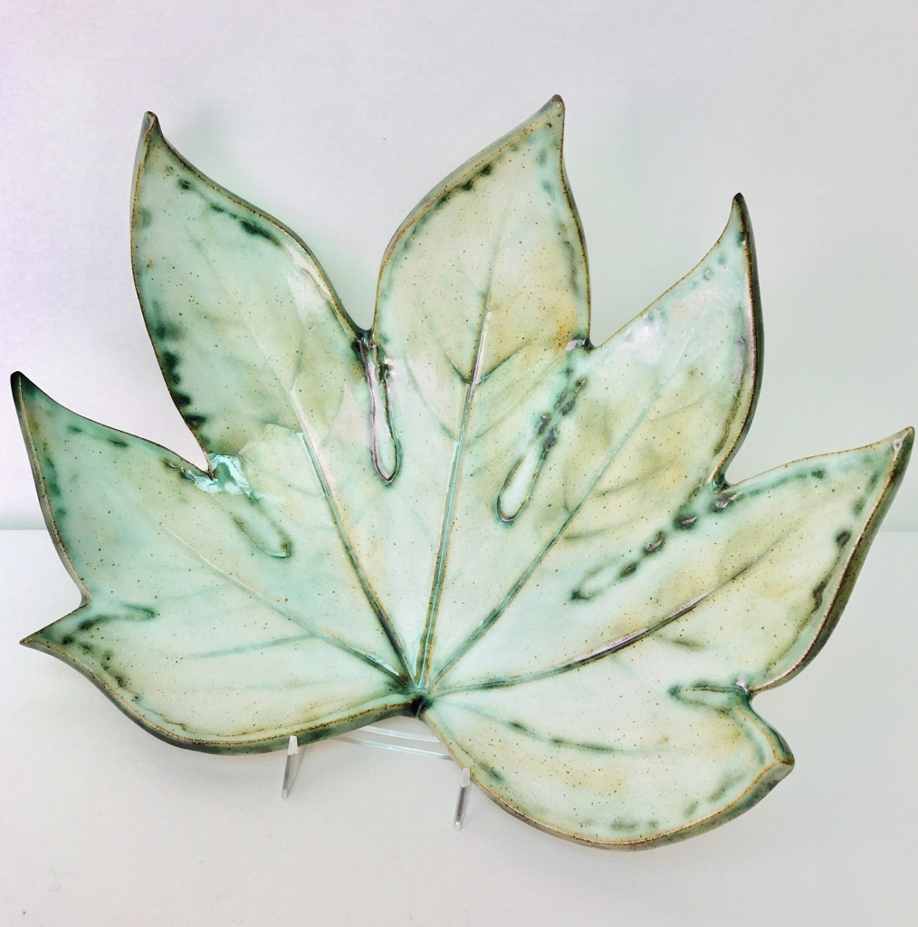 Fatsia Leaf Fruit Bowl by Sonya Ceramic Art