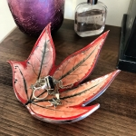 Fatsia Leaf Trinket Dish by Sonya Ceramic Art
