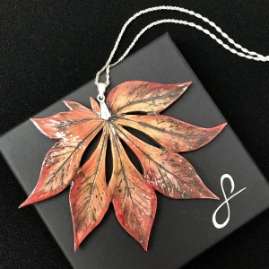 Full Moon Maple Pendant by Sonya Ceramic Art