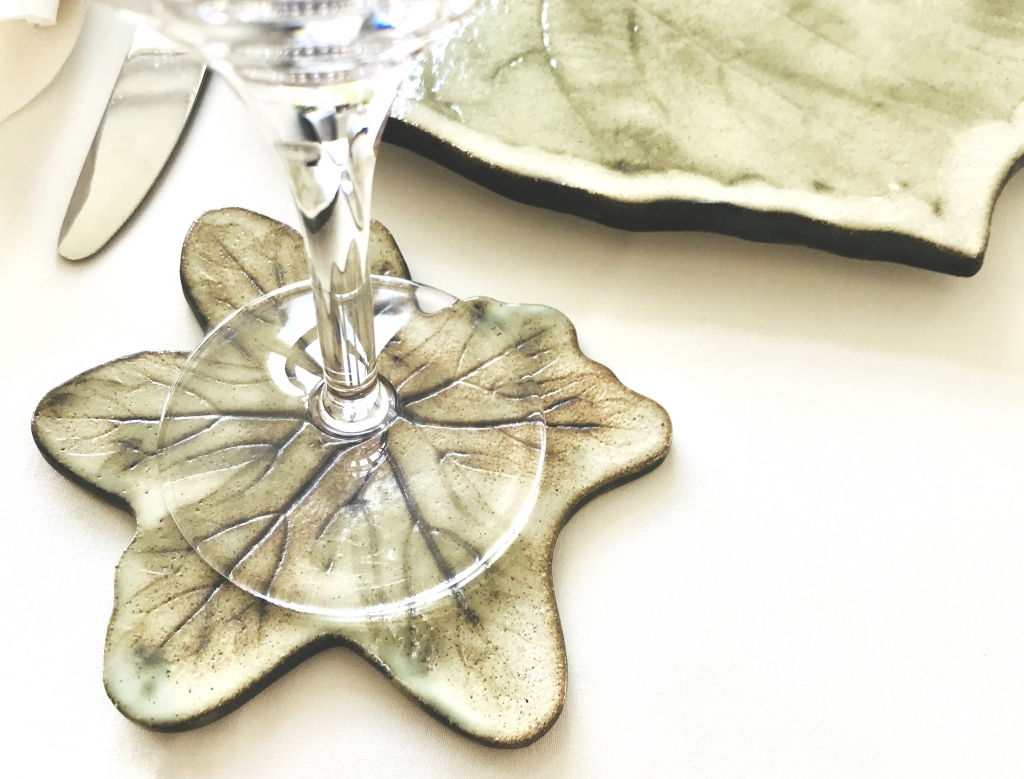 Green Leaf Coaster by Sonya Ceramic Art