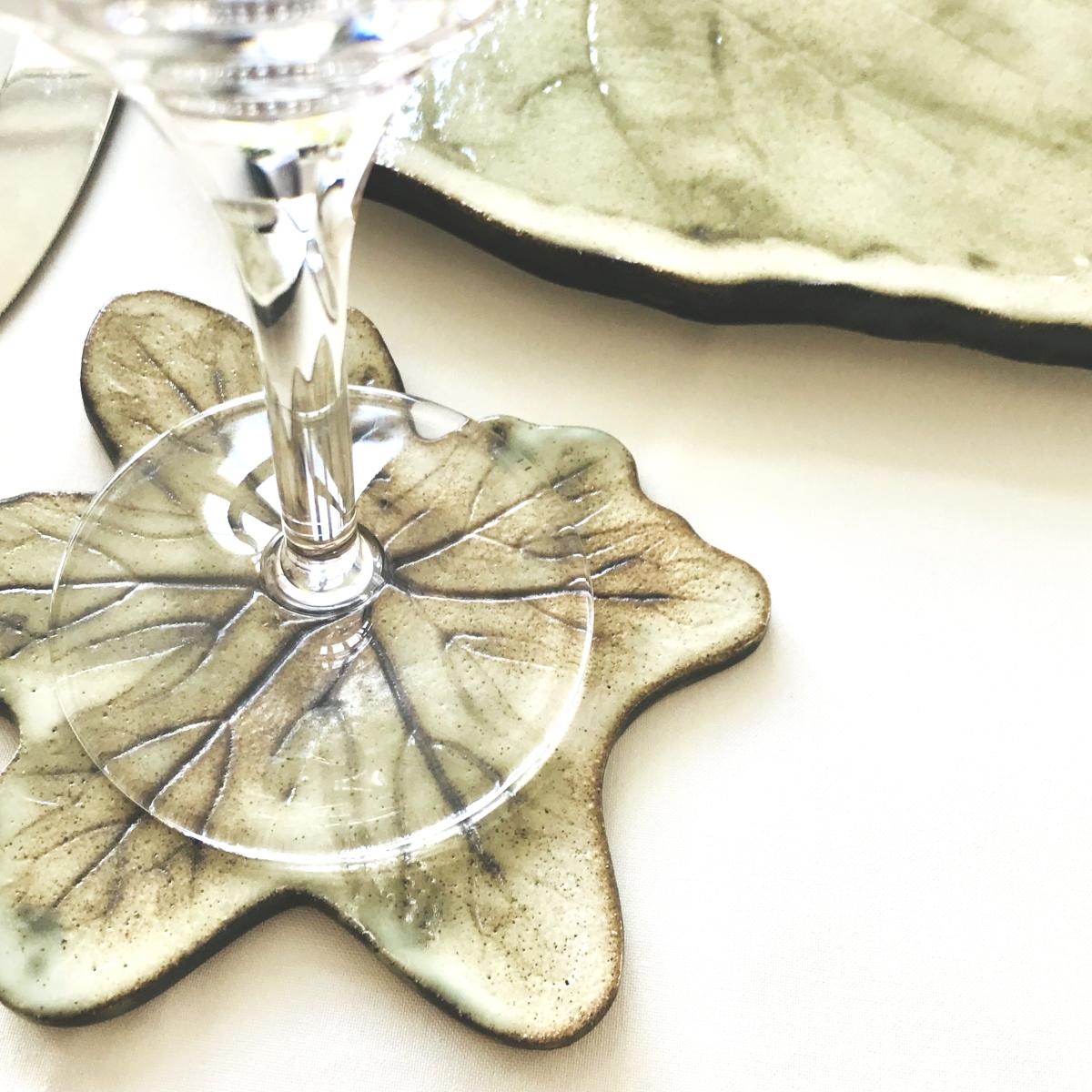 Green Leaf Coaster by Sonya Ceramic Art
