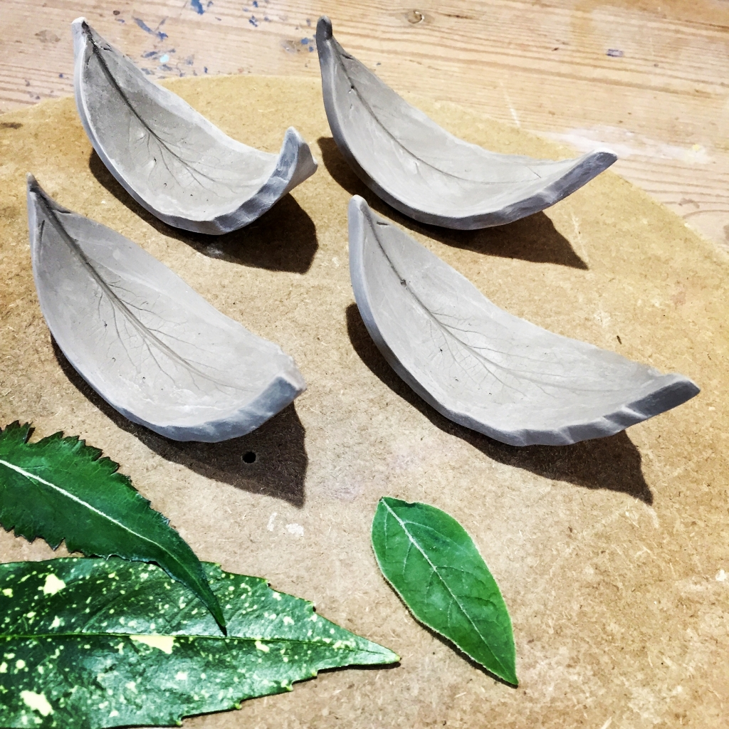 Leaf Chop Stick Rests (in the making)