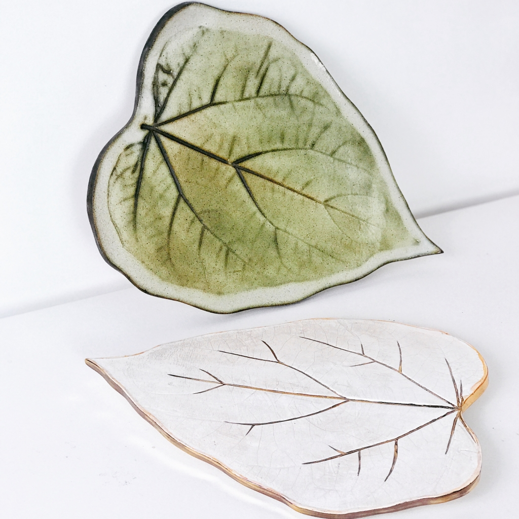 Leaf Serving Platters by Sonya Ceramic Art