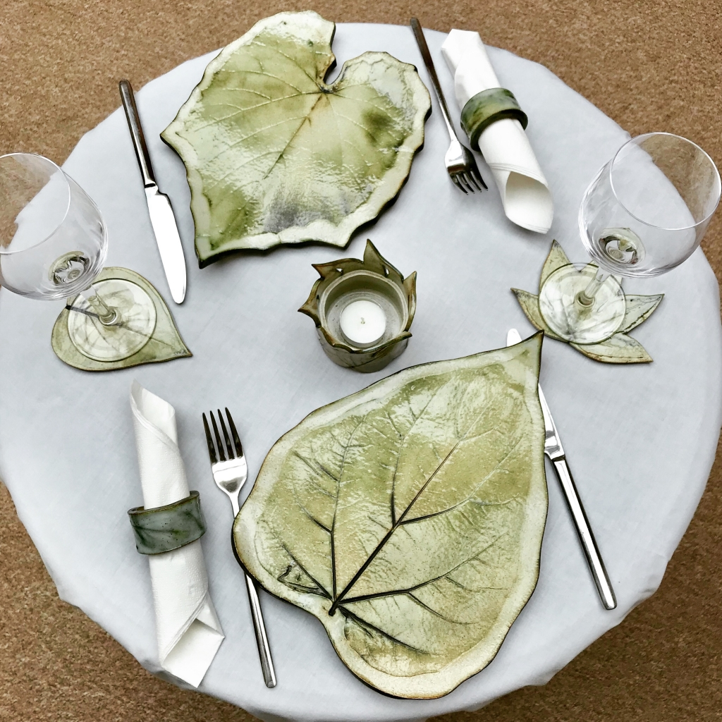 Leaf Tableware Dining Set. by Sonya Ceramic Art