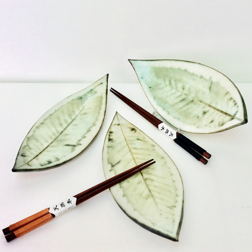 Sushi Leaf Serving Dishes by Sonya Ceramic Art
