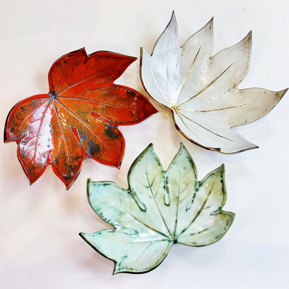 Fatsia Leaf Fruit Bowls by Sonya Ceramic Art