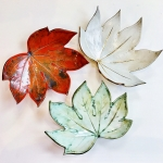 Fatsia Leaf Fruit Bowls by Sonya Ceramic Art
