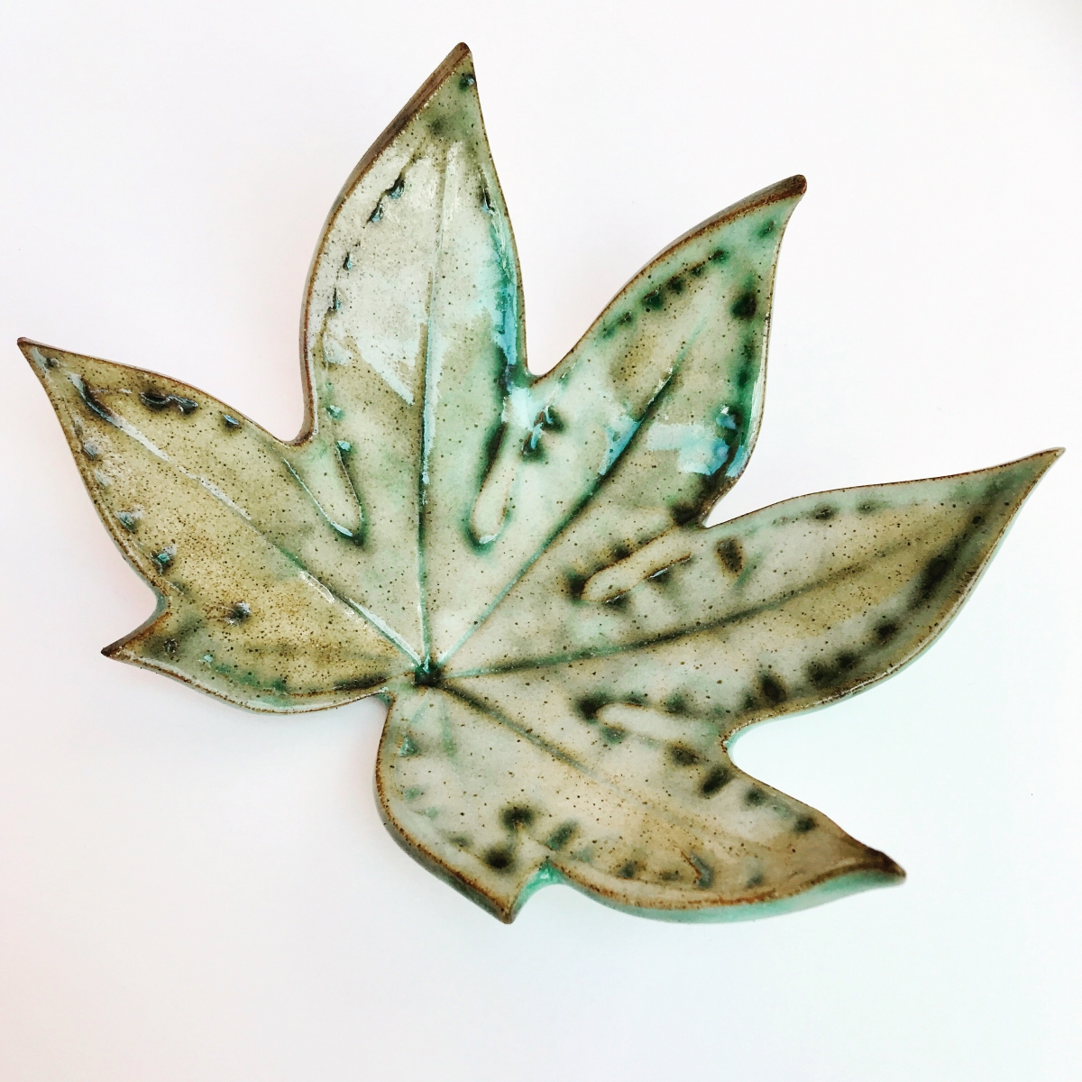 Fatsia Trinket Dish made by Ceramics Inspired by Nature