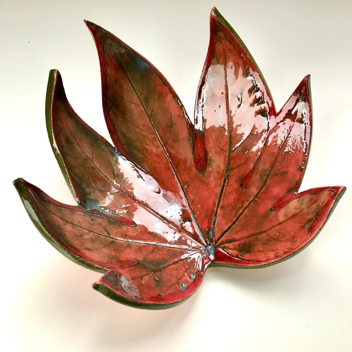 Fatsia Trinket Dishes by Sonya Ceramic Art (View 1)