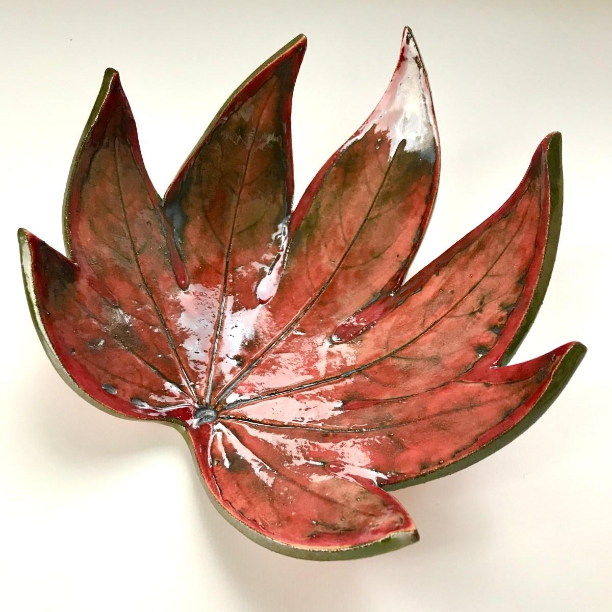Fatsia Trinket Dishes by Sonya Ceramic Art (View 3)