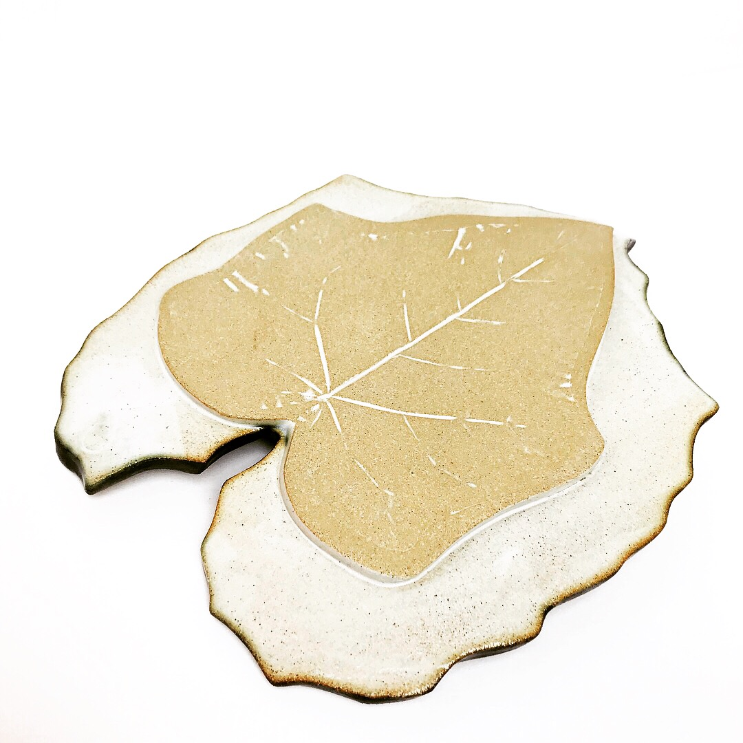 Green Glory Vine Leaf Serving Platter Base