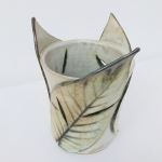 Leaf Candle Lantern by Sonya Ceramic Art