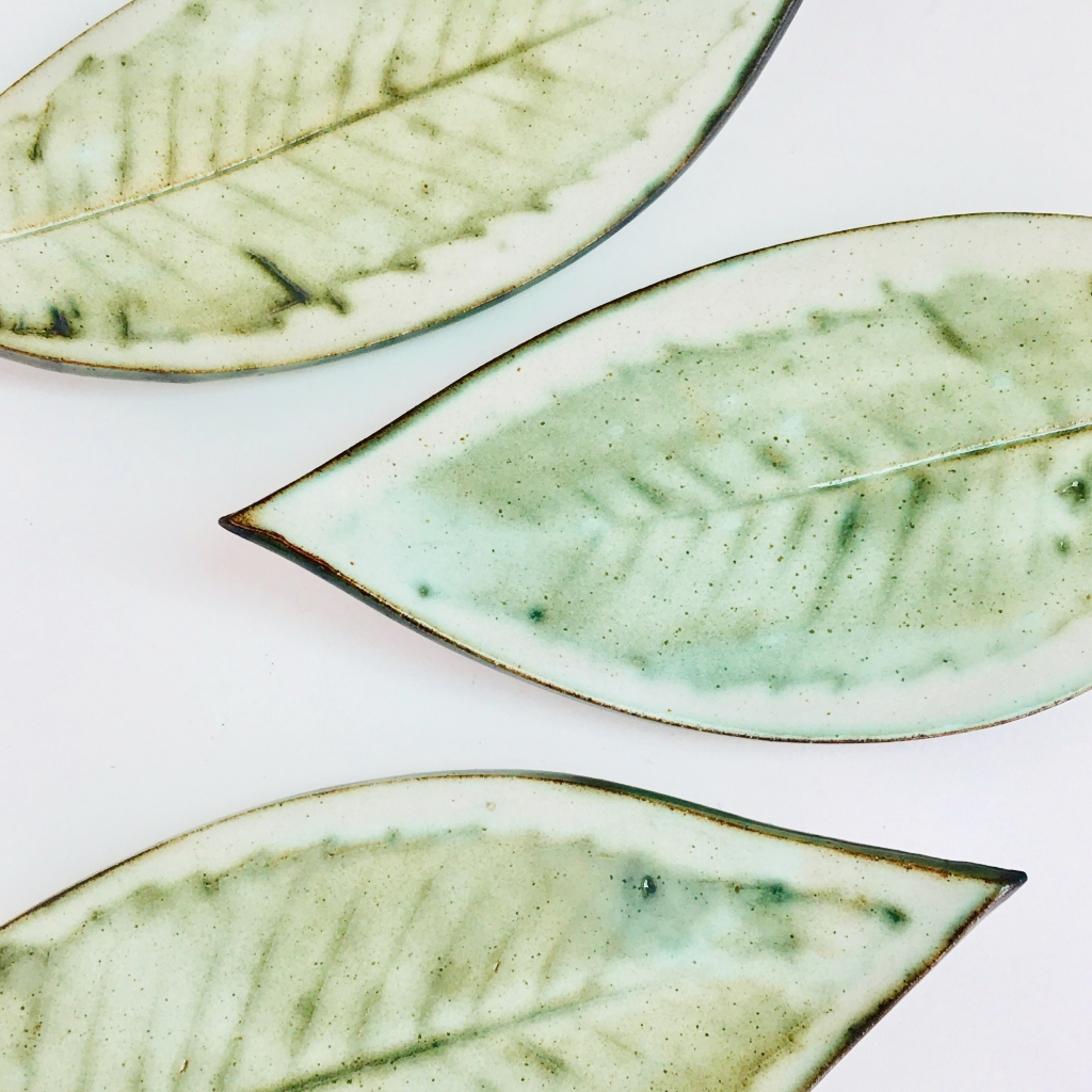 Sushi Leaf Platters by Sonya Ceramic Art