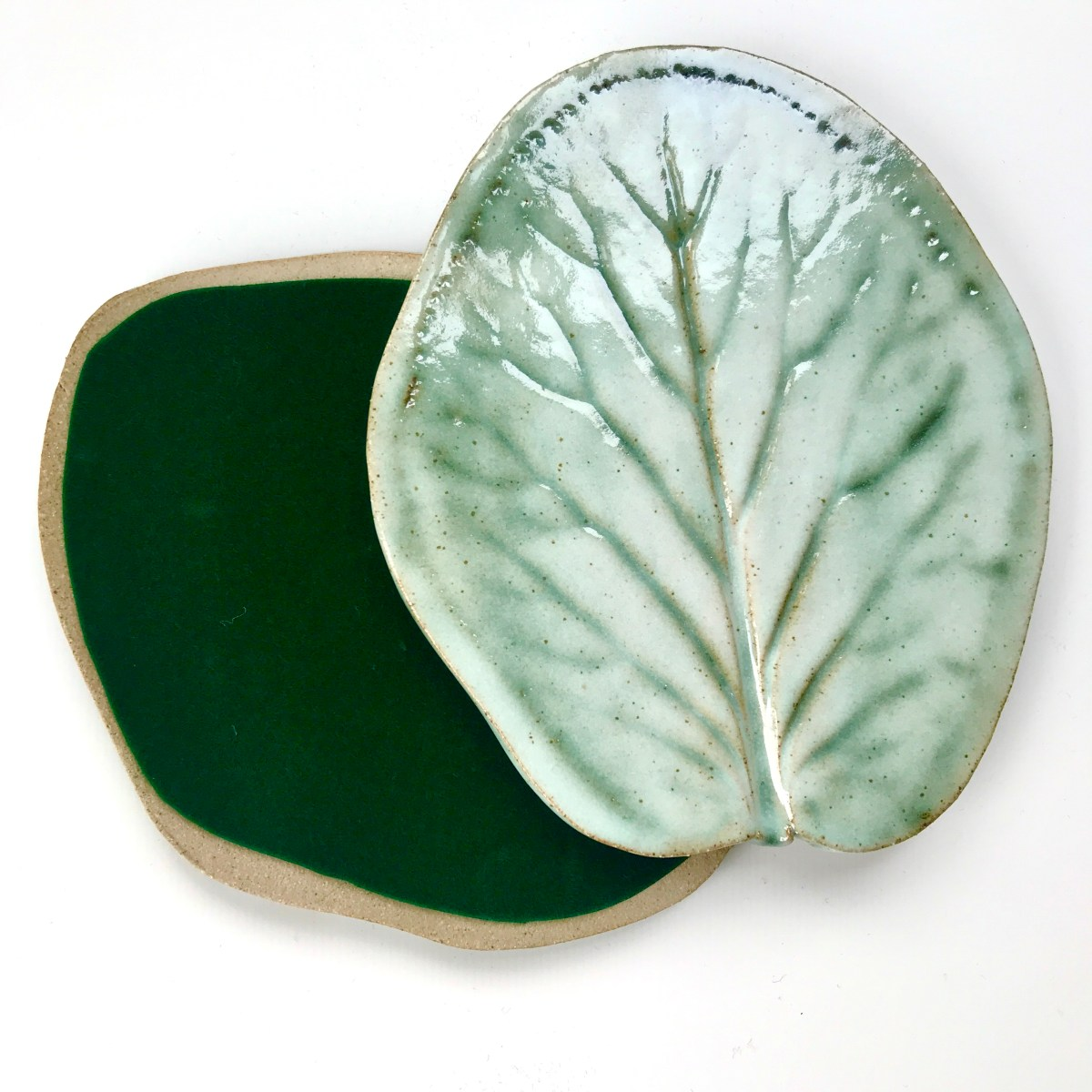 Bergenia Leaf Coaster by Sonya Ceramic Art (with felt backing)