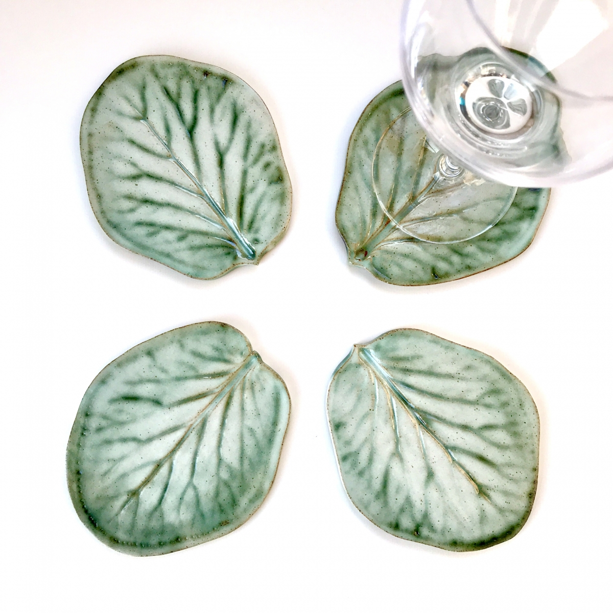 Bergenia Leaf Coasters by Sonya Ceramic Art (View 1)