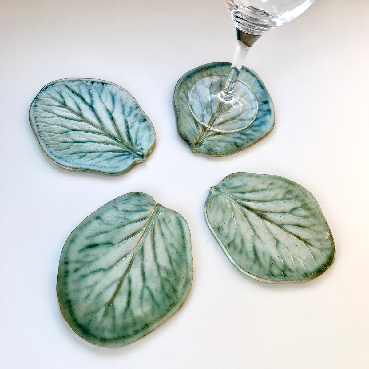 Bergenia Leaf Coasters by Sonya Ceramic Art (View 2)