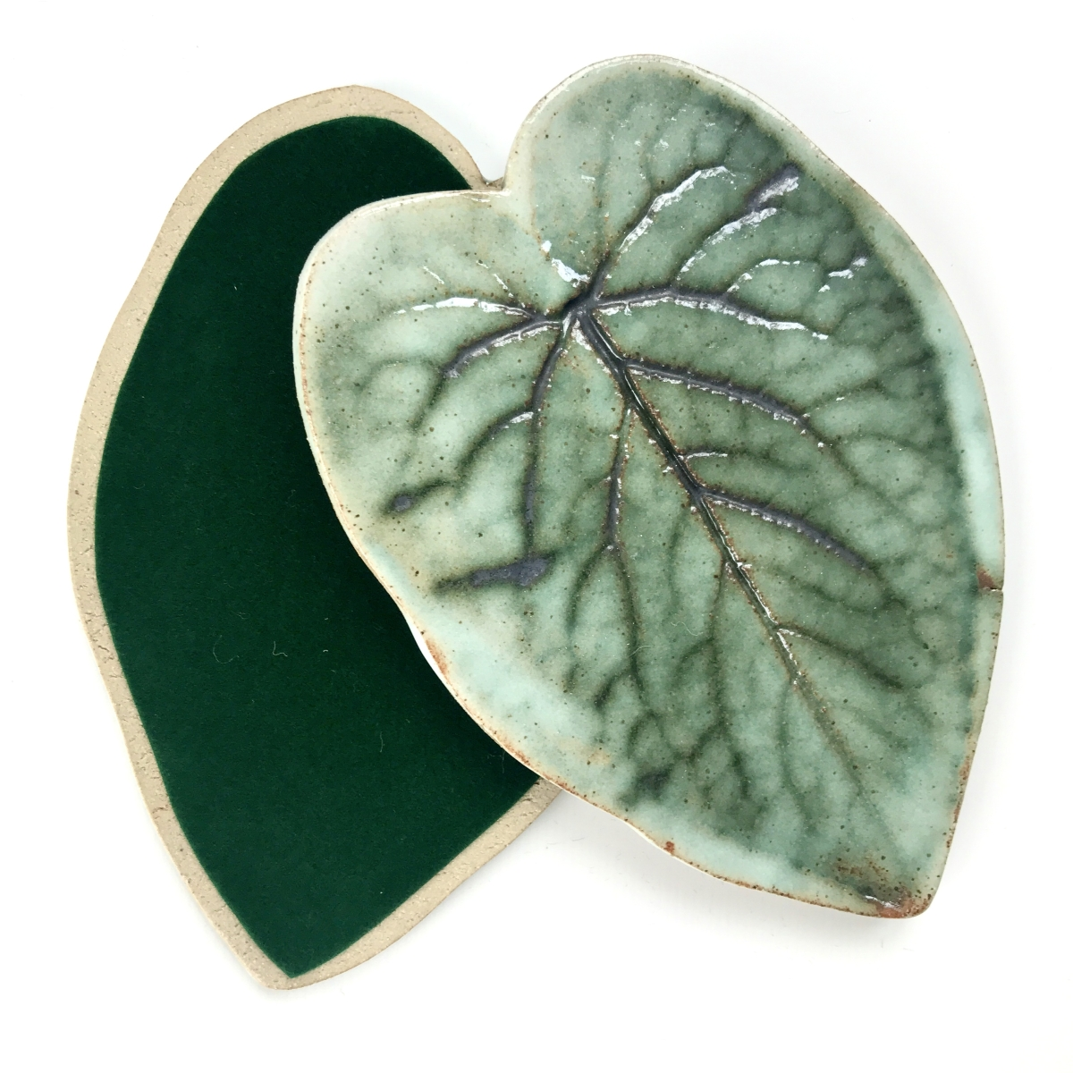 Foxglove Leaf Coasters by Sonya Ceramic Art (with felt backing)