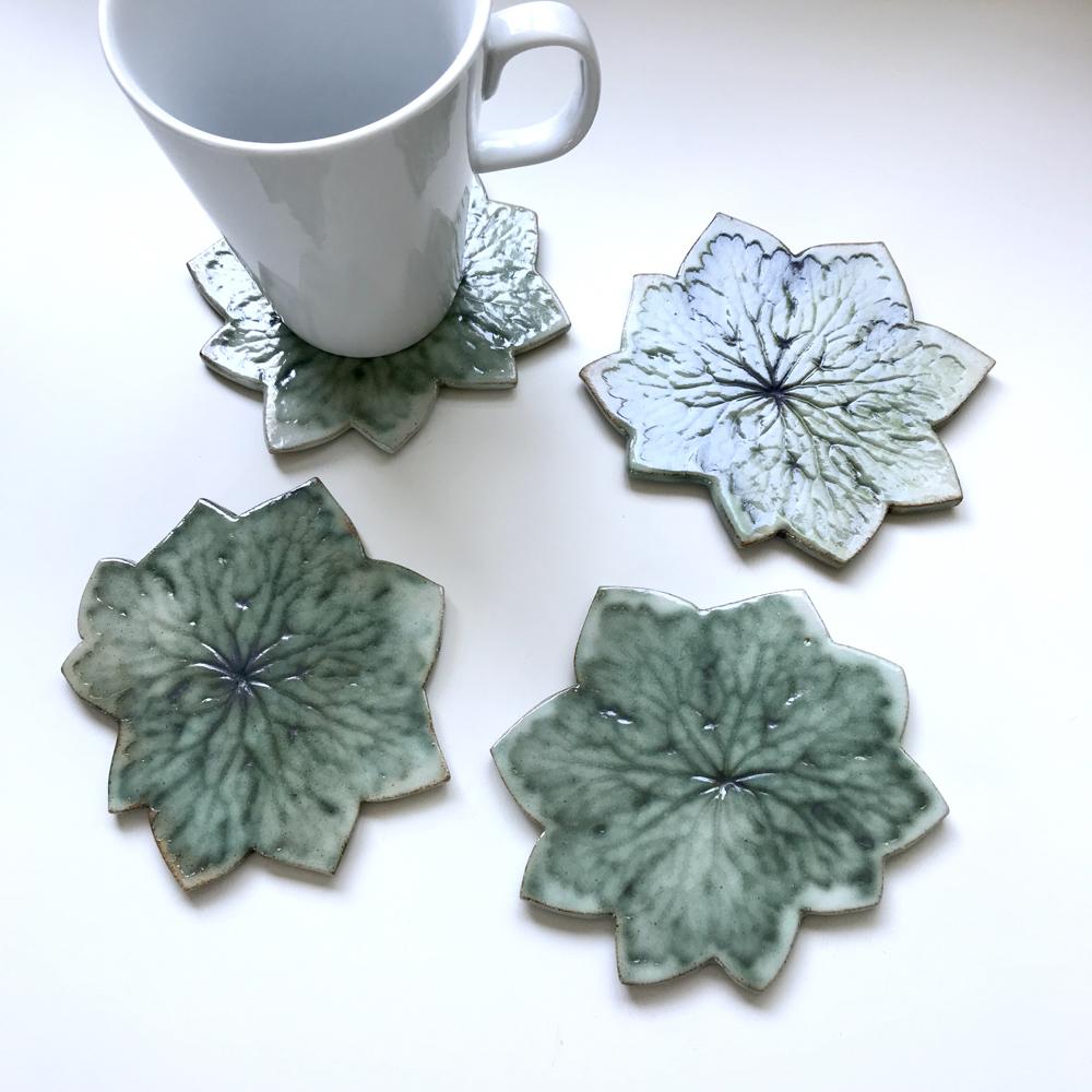 Geranium Leaf Coasters