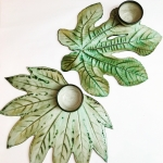 Large Leaf Sharing Platters by Sonya Ceramic Art 2 Designs