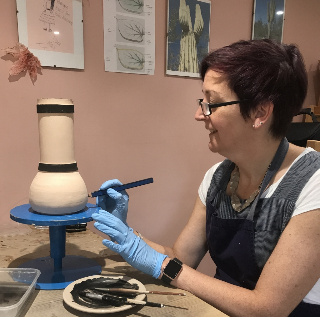 Pottery Glazing with Sonya Ceamic Art