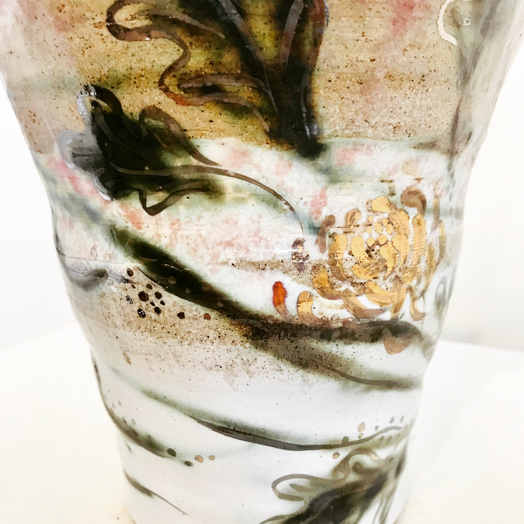 Bespoke Porcelain Vase by Sonya Ceramic Art Detail Shot