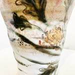 Bespoke Porcelain Vase by Sonya Ceramic Art Detail Shot
