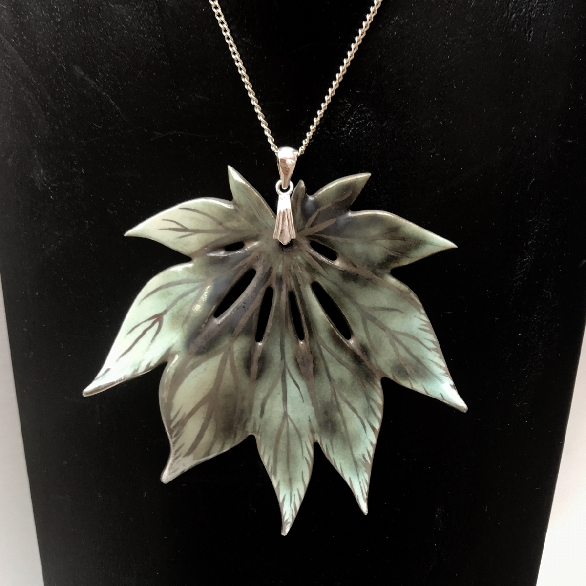Ceramic Leaf Necklace by Sonya Ceramic Art 'Ceramics Inspired by Nature'