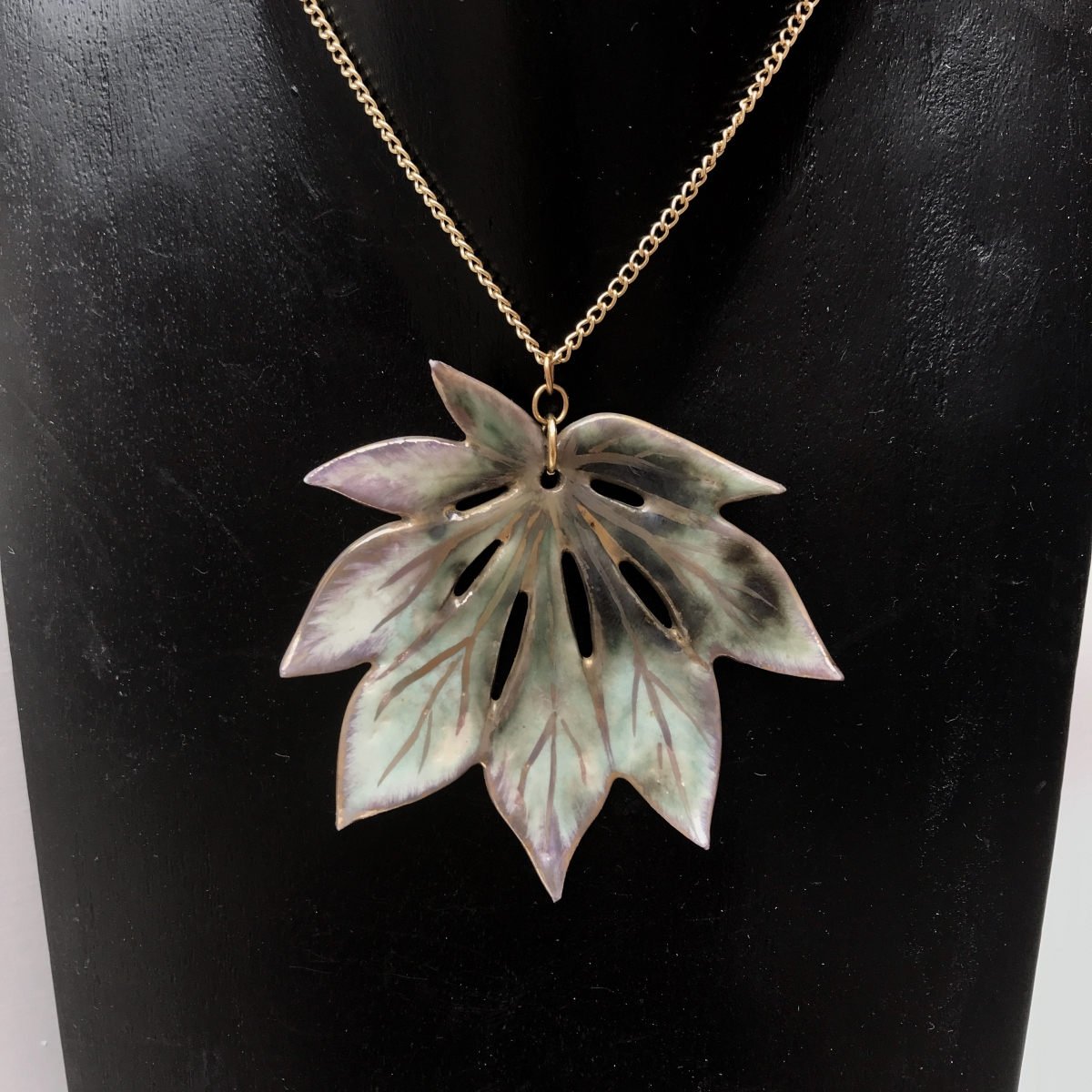 Leaf Necklace by Sonya Ceramic Art 'Ceramics Inspired By Nature'