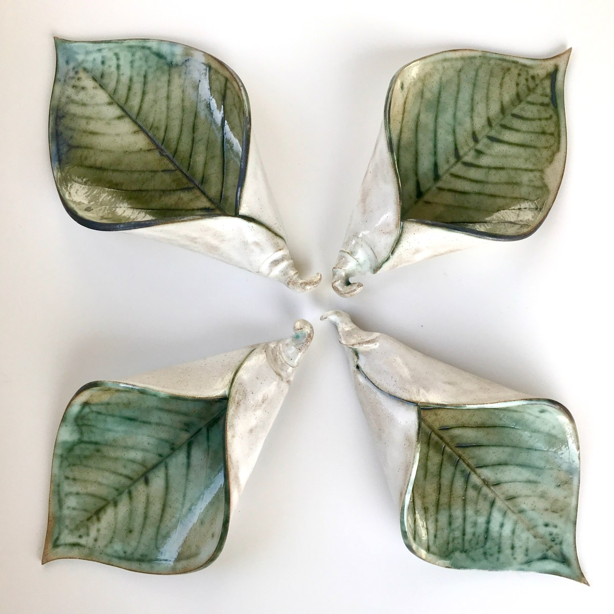 Lily Leaf Wall Planters by Ceramics Inspired By Nature Sonya Wilkins