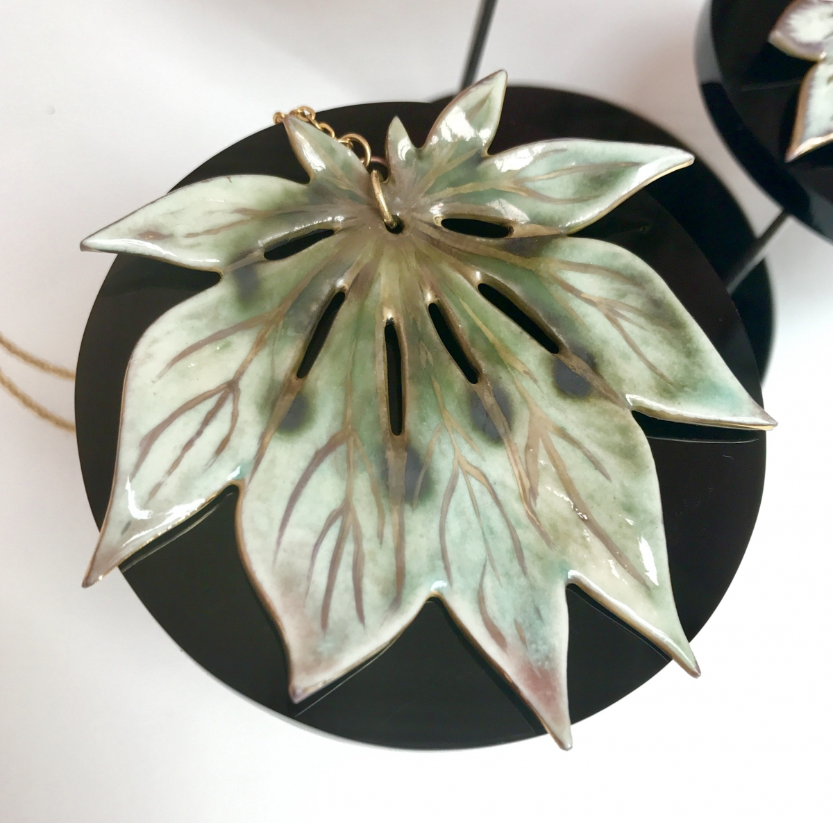 Leaf Pendant made by Sonya Ceramic Art 'Ceramics Inspired By Nature'