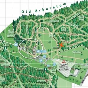 Trace Your Jewellery's Origin by Sonya Ceramic Art at Westonbirt Arboretum Old Area Map