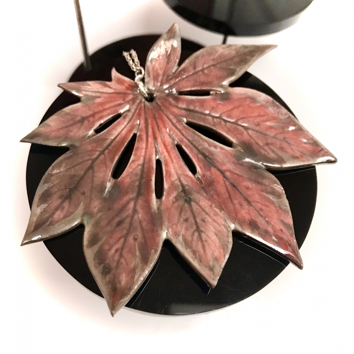 Maple Leaf Pendant by Sonya Ceramic Art