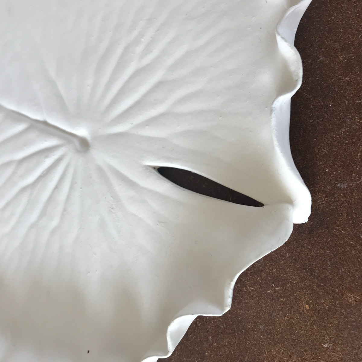 Pond Lily Leaf Dessert Dishes by Sonya Ceramic Art 'Raw Glaze Stage'