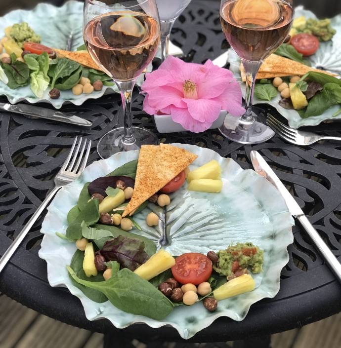 Pond Lily Leaf Dinner Plates Al Fresco Dining by Sonya Wilkins