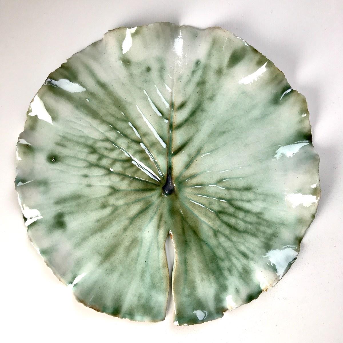 Pond Lily Leaf Side Plate by Sonya Ceramic Art