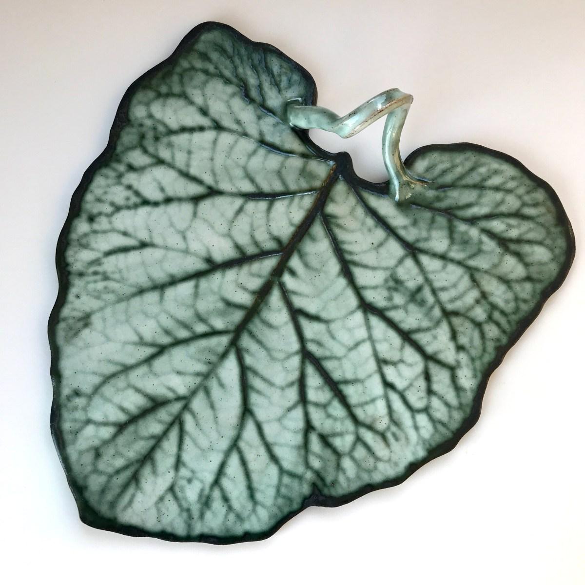 Burdock Leaf Sharing Platter by Sonya Ceramic Art (View 1)