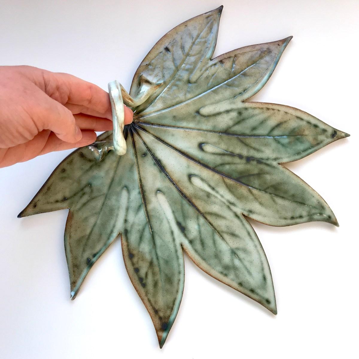 Fatsia Leaf Sharing Platter by Sonya Ceramic Art (Example 2)