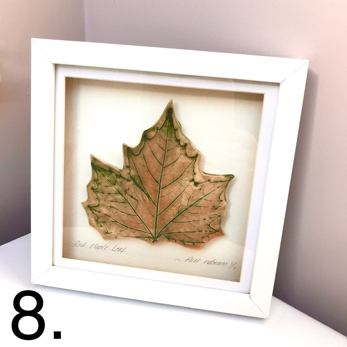 Framed Maple Leaf by Ceramics Inspired By Nature