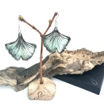 Ginkgo Leaf Earrings By Ceramics Inspired By Nature