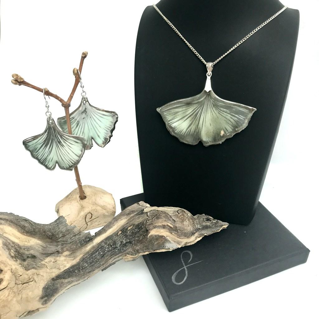 Ginkgo Jewellery Set by Sonya Ceramic Art