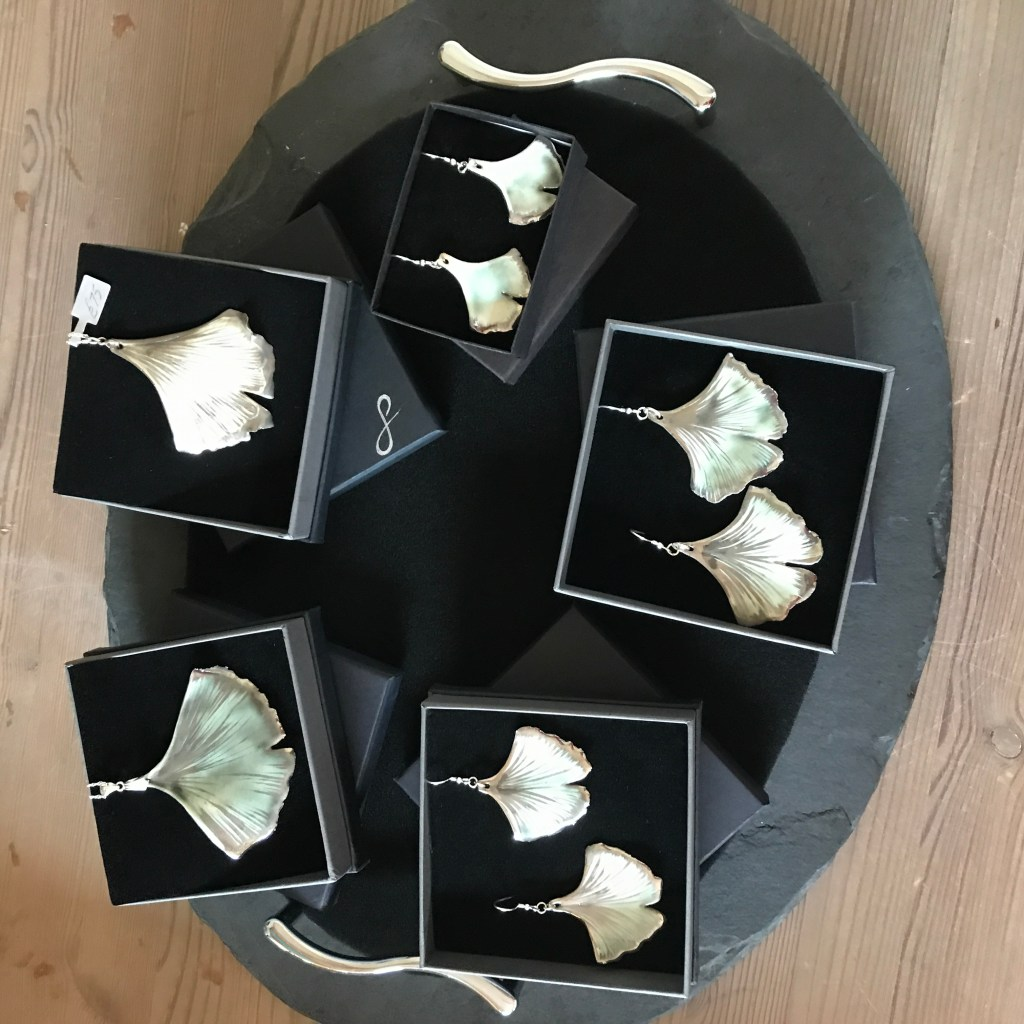 Ginkgo Leaf Jewellery By Ceramics Inspired By Nature