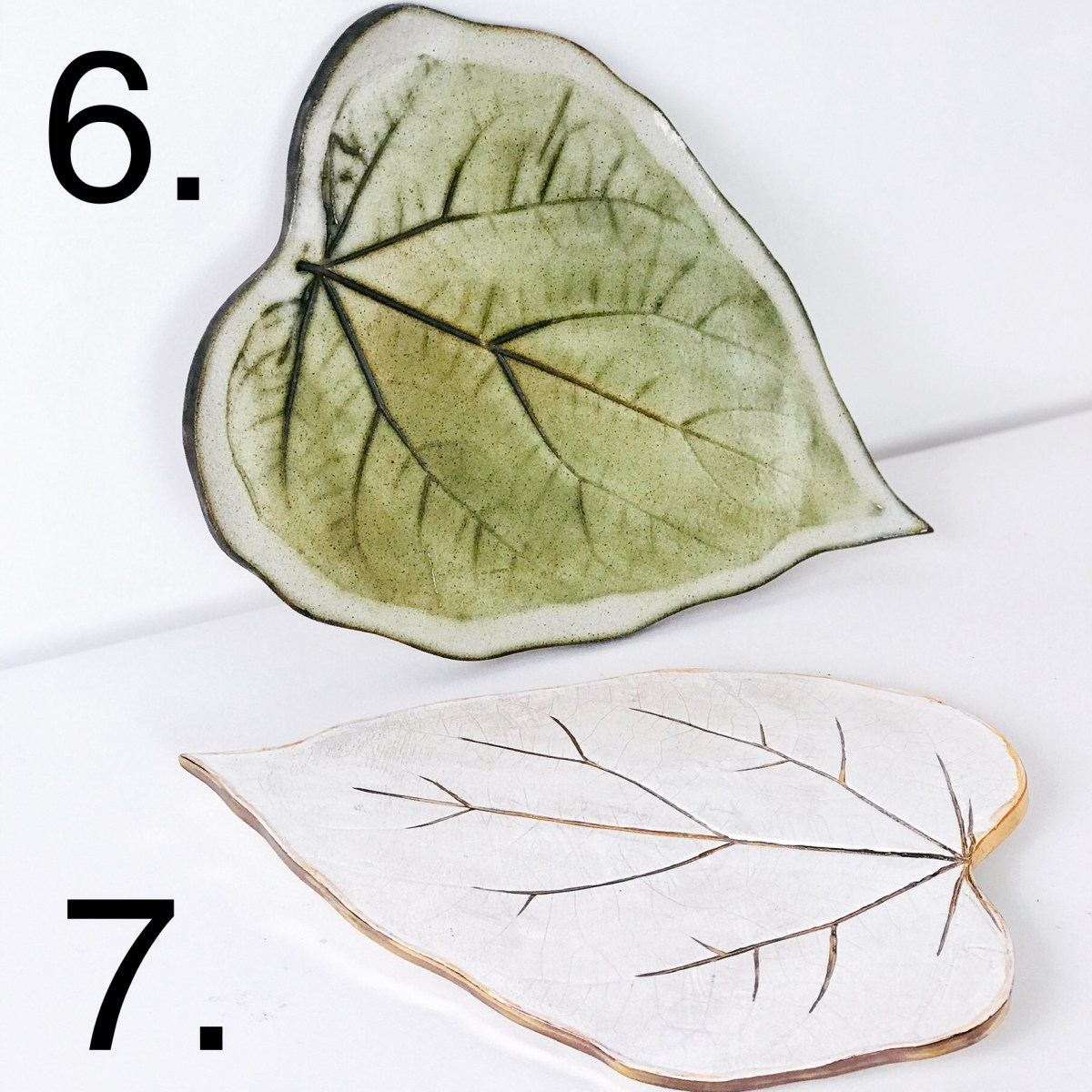 Paulownia Leaf Serving Plates by Sonya Ceramic Art