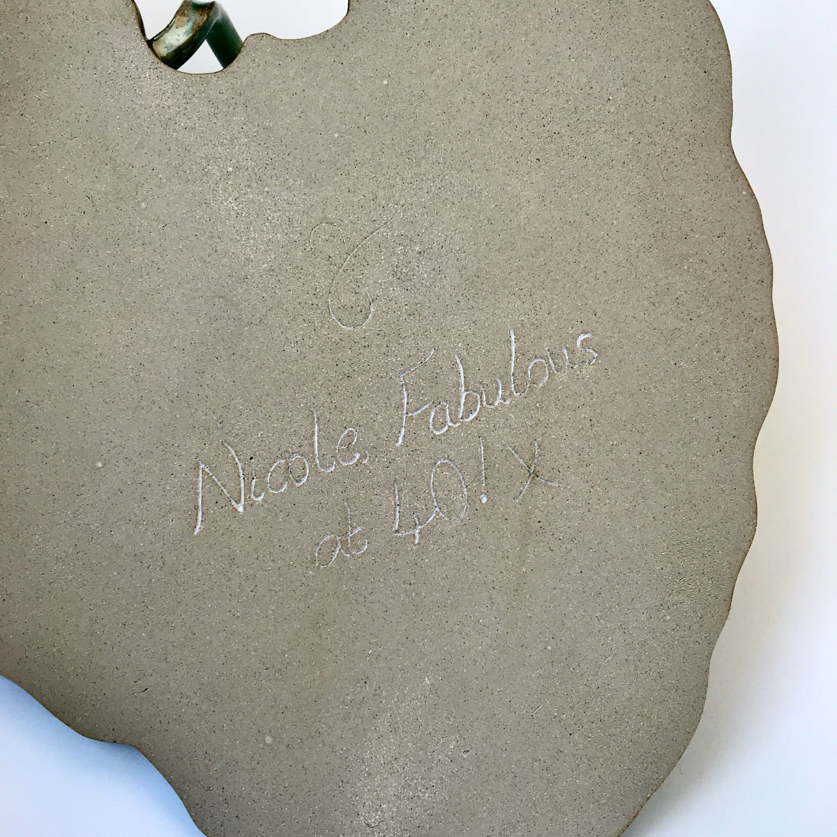 Personalised Burdock Leaf Sharing Platter by Sonya Ceramic Art (Fired)