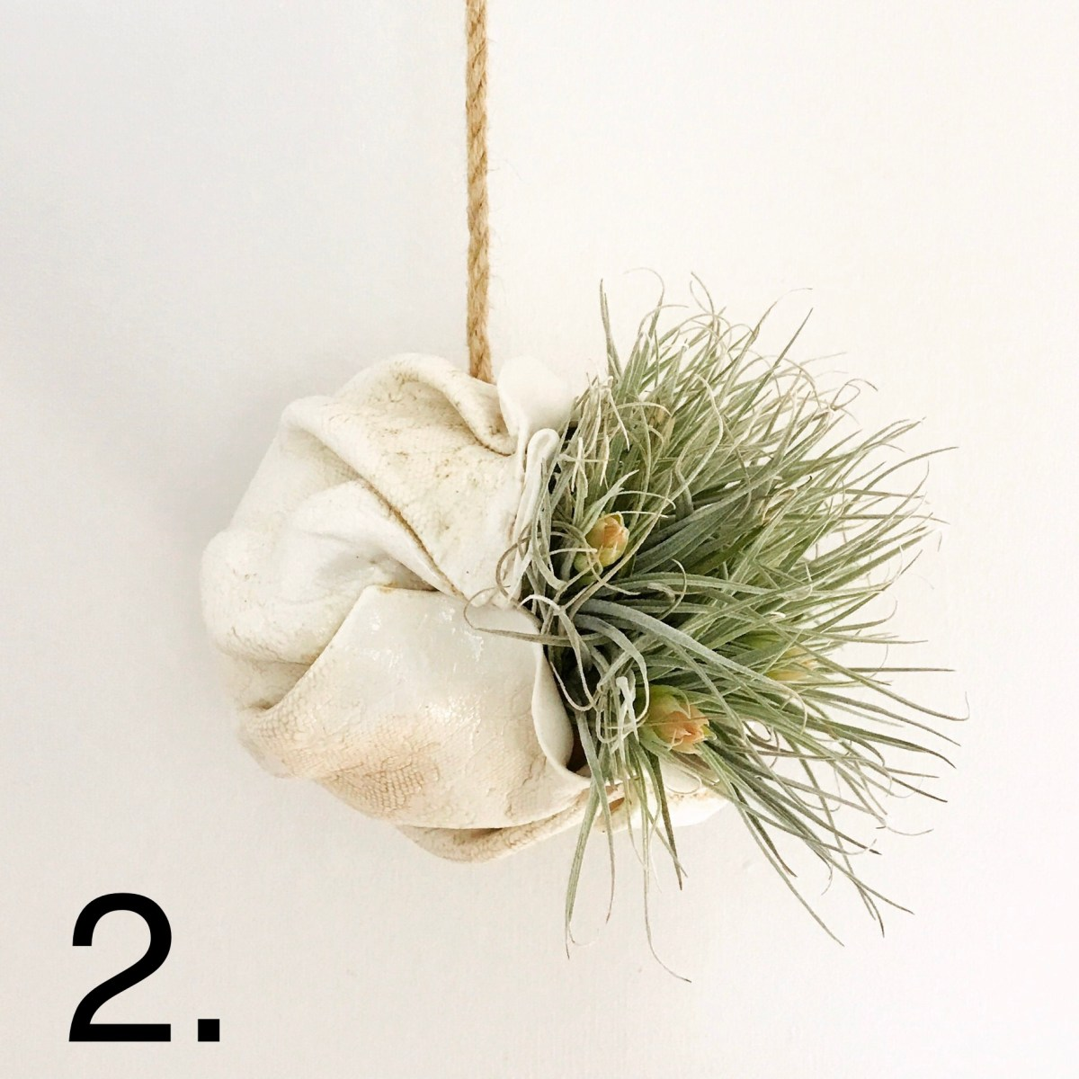 Porcelain Hanging Air Planter by Ceramics Inspired By Nature