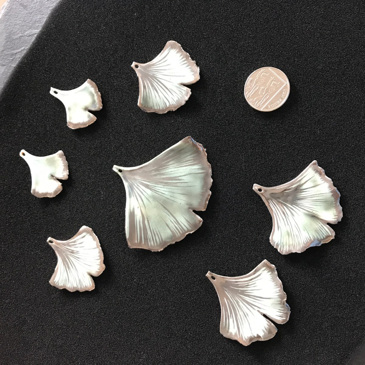 Sizes of Ginkgo Leaf Jewellery