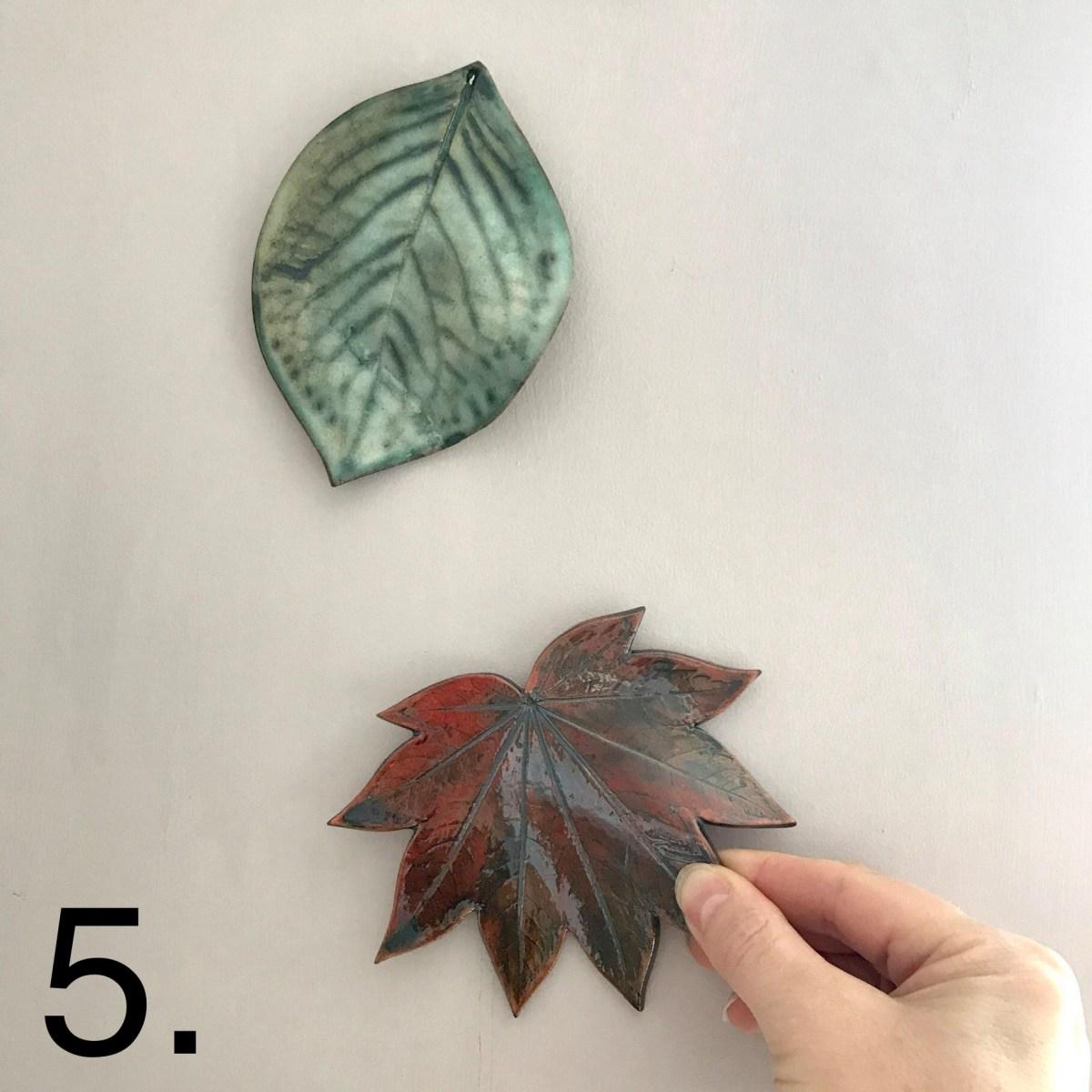 Hanging Leaf Wall Decor By Sonya Ceramic Art