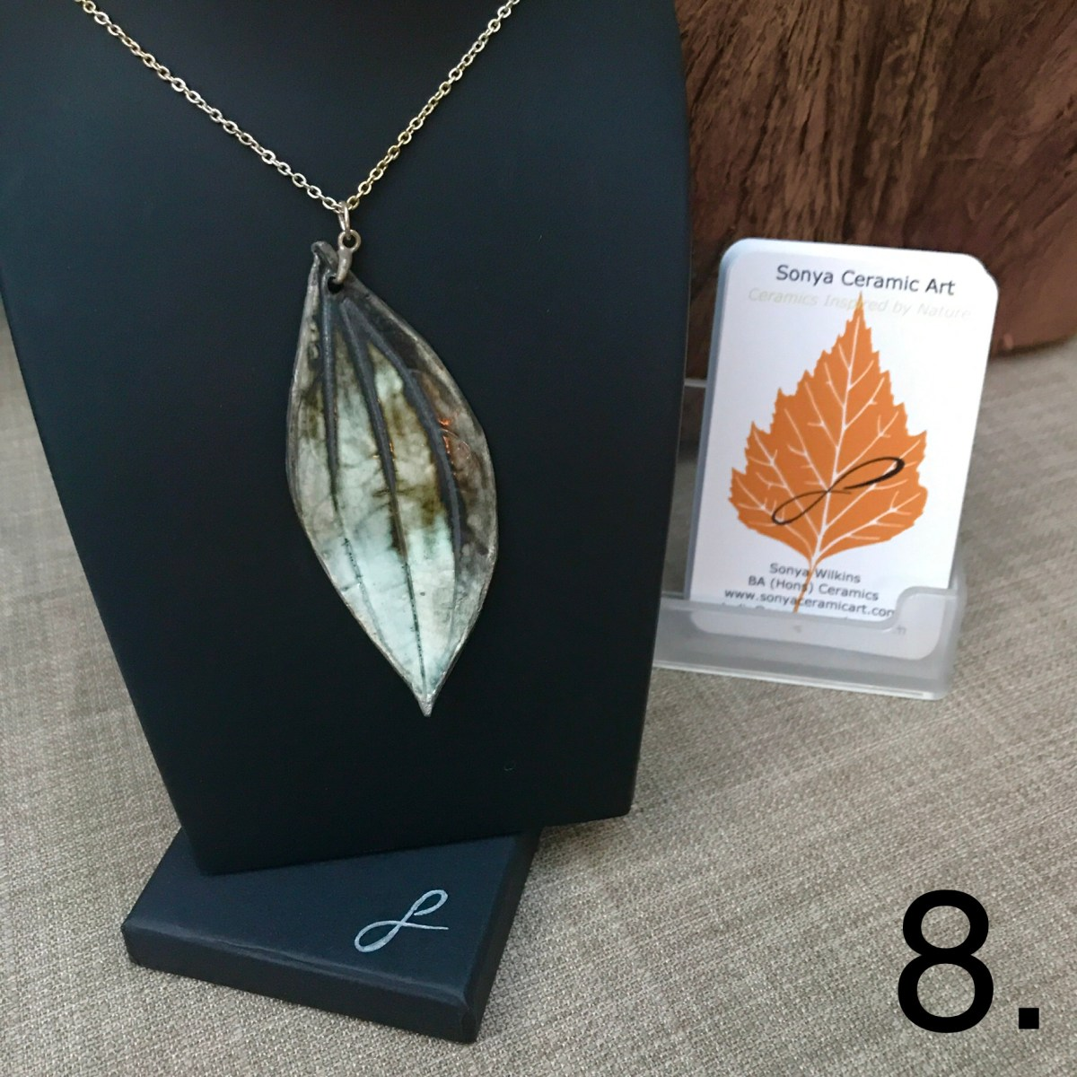 Leaf Pendant By Ceramics Inspired By Nature