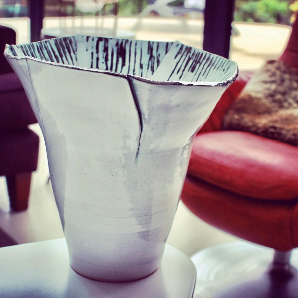 Wide Brim Sonoran Vortex Vase by Sonya Ceramic Art