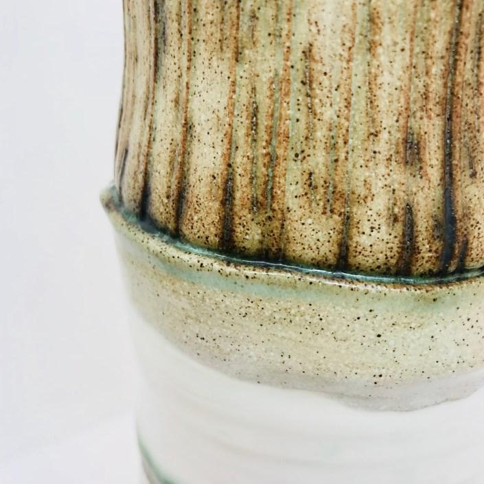 Detail of Sonoran Vortex Vase by Sonya Ceramic Art
