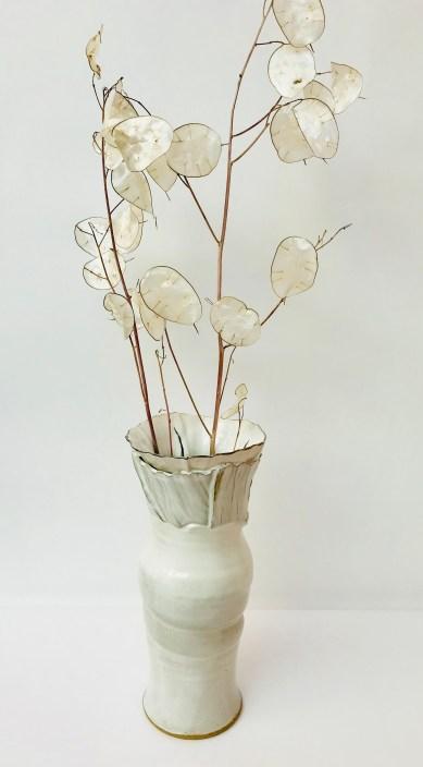 Porcelain Sonoran Vortex Vase by Sonya Ceramic Art